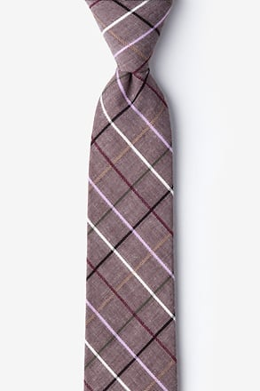 Brown Checkers Skinny Tie