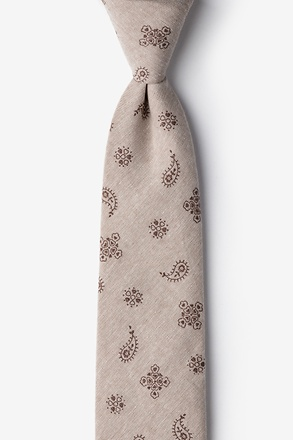 Brown Hunter Paisley Skinny Tie