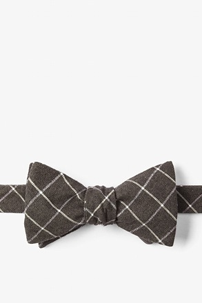 Brown Philip Check Butterfly Bow Tie
