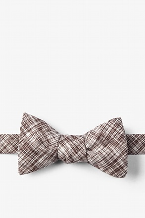 Brown Shah Butterfly Bow Tie