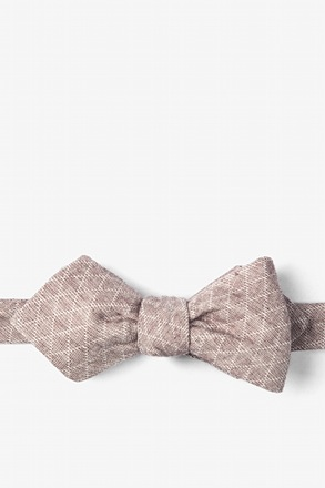 Brown Tangent Diamond Tip Bow Tie