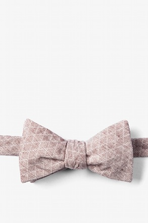 _Brown Tangent Self-Tie Bow Tie_