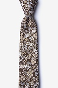 Brown Cotton Campbell Skinny Tie