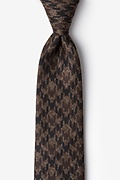 Brown Cotton Chandler Extra Long Tie