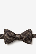 Brown Cotton Chandler Self-Tie Bow Tie