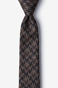 Brown Cotton Chandler Skinny Tie