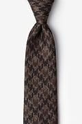Brown Cotton Chandler Tie
