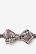 Brown Cotton Cottonwood Diamond Tip Bow Tie