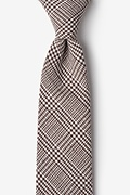 Brown Cotton Cottonwood Extra Long Tie