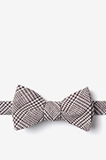 Brown Cotton Cottonwood Self-Tie Bow Tie