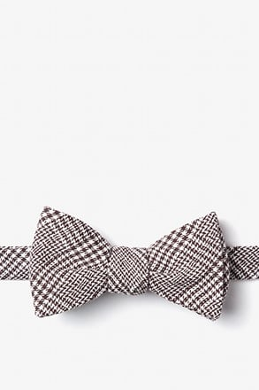 _Cottonwood Brown Self-Tie Bow Tie_