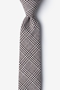 Brown Cotton Cottonwood Skinny Tie