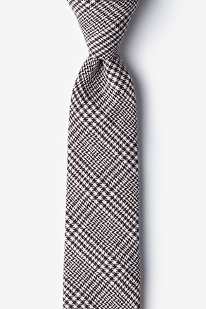 _Cottonwood Brown Skinny Tie_