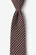 Brown Cotton descanso Extra Long Tie