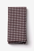Brown Cotton Descanso Pocket Square