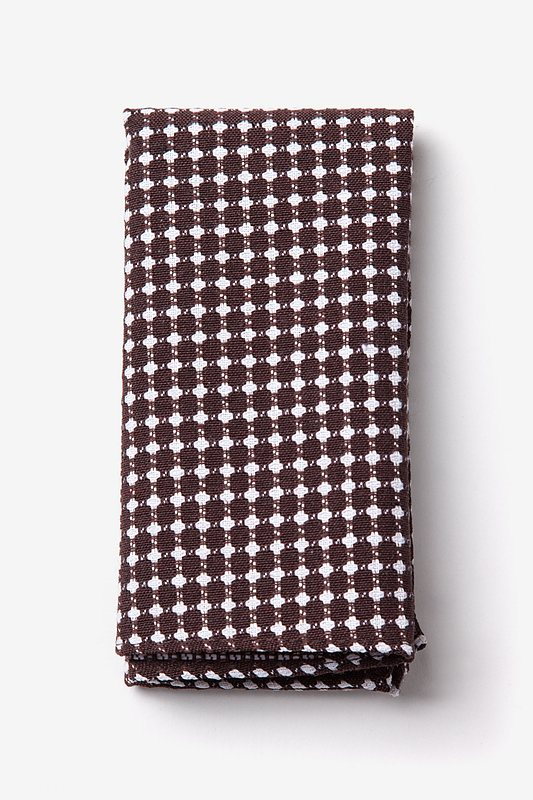 Descanso Brown Pocket Square