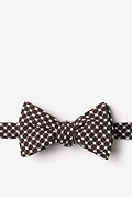 Brown Cotton Descanso Self-Tie Bow Tie