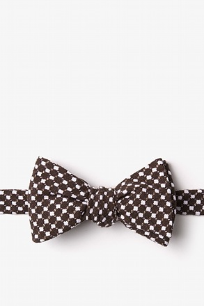 Descanso Brown Self-Tie Bow Tie