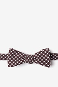 Brown Cotton Descanso Skinny Bow Tie
