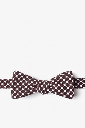 Descanso Brown Skinny Bow Tie