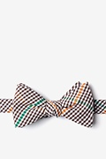Brown Cotton Douglas Self-Tie Bow Tie