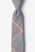 Brown Cotton Douglas Skinny Tie