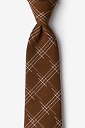 Brown Cotton Escondido Extra Long Tie