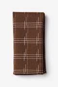 Brown Cotton Escondido Pocket Square
