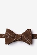 Brown Cotton Escondido Self-Tie Bow Tie