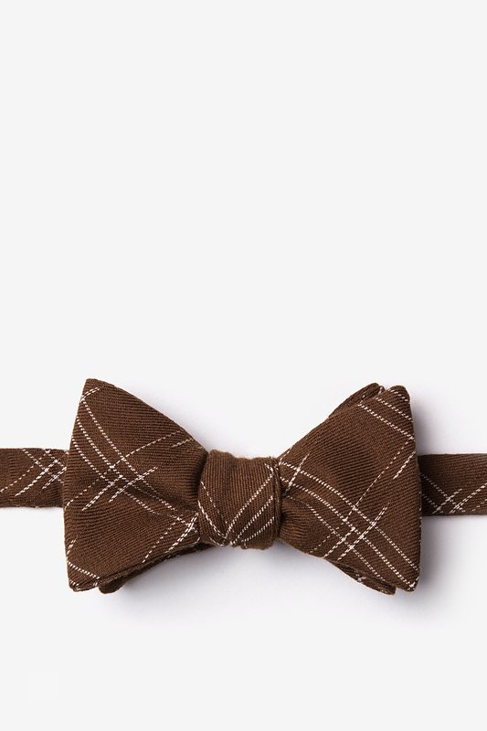 Escondido Brown Self-Tie Bow Tie Photo (0)