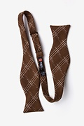 Escondido Brown Self-Tie Bow Tie Photo (1)