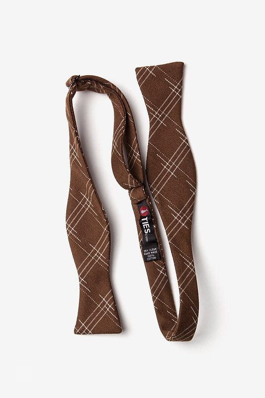 Escondido Brown Skinny Bow Tie Photo (1)
