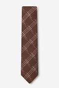 Escondido Brown Skinny Tie Photo (1)