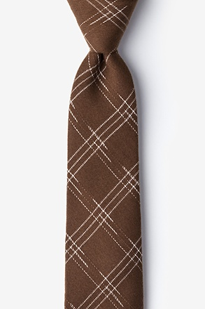 Escondido Brown Skinny Tie