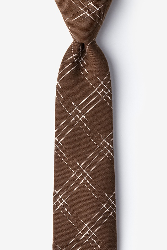 Escondido Brown Skinny Tie Photo (0)