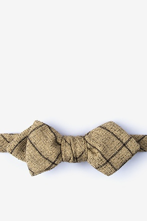 _Fletcher Brown Diamond Tip Bow Tie_