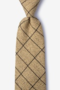 Brown Cotton Fletcher Extra Long Tie