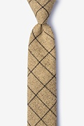 Brown Cotton Fletcher Skinny Tie
