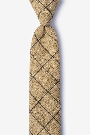 _Fletcher Brown Skinny Tie_