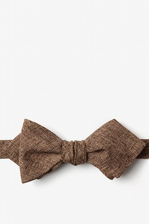 Galveston Brown Diamond Tip Bow Tie