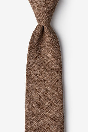 _Galveston Brown Extra Long Tie_