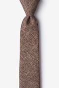 Brown Cotton Galveston Skinny Tie