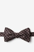 Brown Cotton Glendale Butterfly Bow Tie