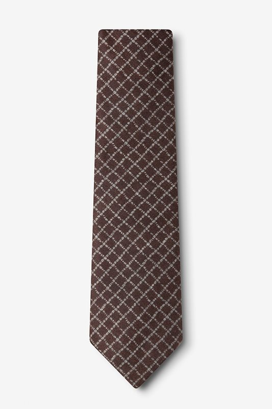 Glendale Brown Extra Long Tie Photo (1)