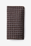 Brown Cotton Glendale Pocket Square