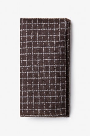 Glendale Brown Pocket Square