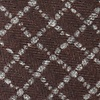 Brown Cotton Glendale Skinny Tie