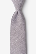 Brown Cotton Hitchcock Tie