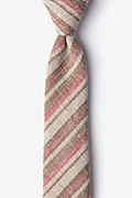 Brown Cotton Katy Skinny Tie