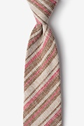 Brown Cotton Katy Tie